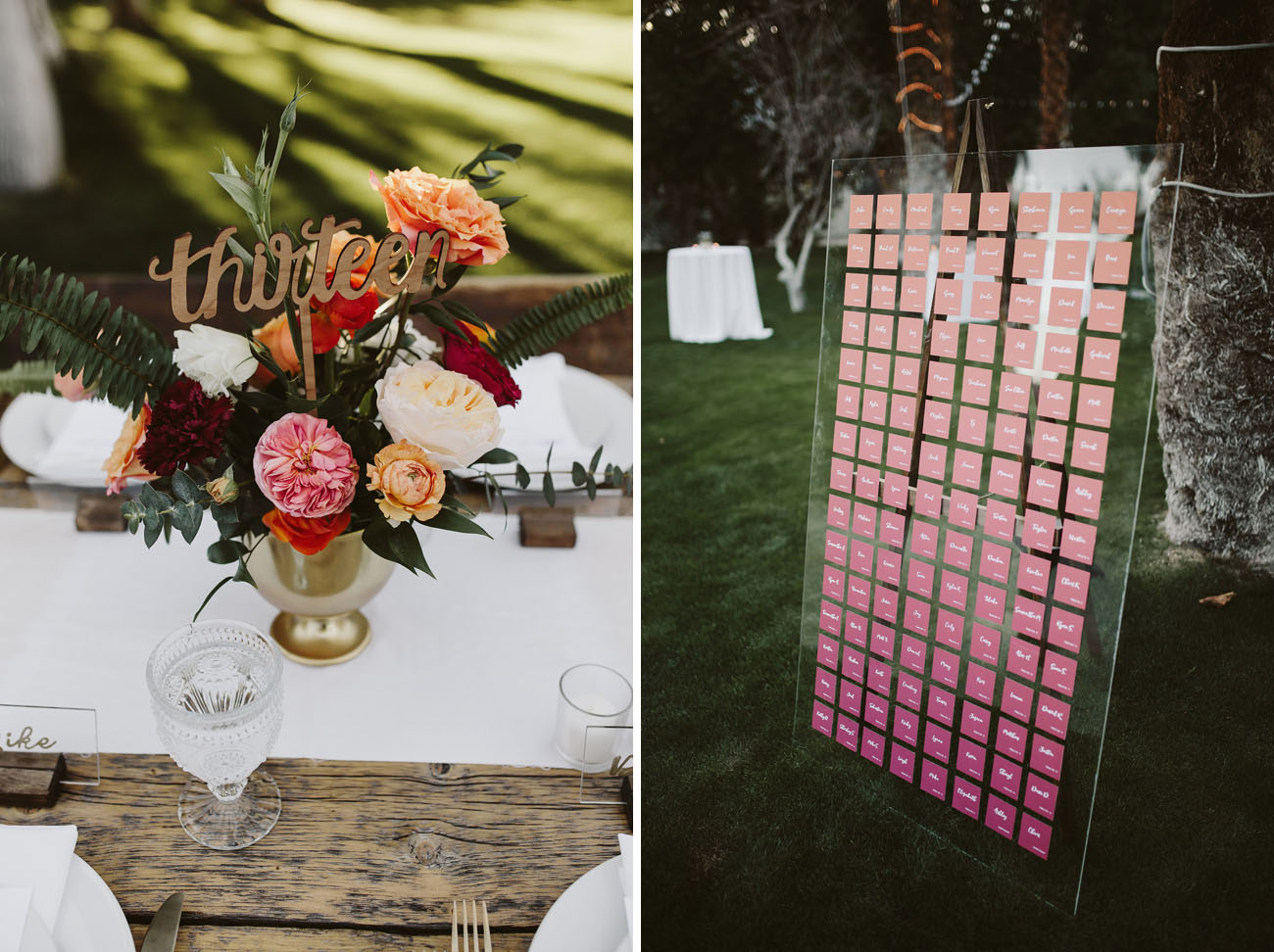 ombre escort cards