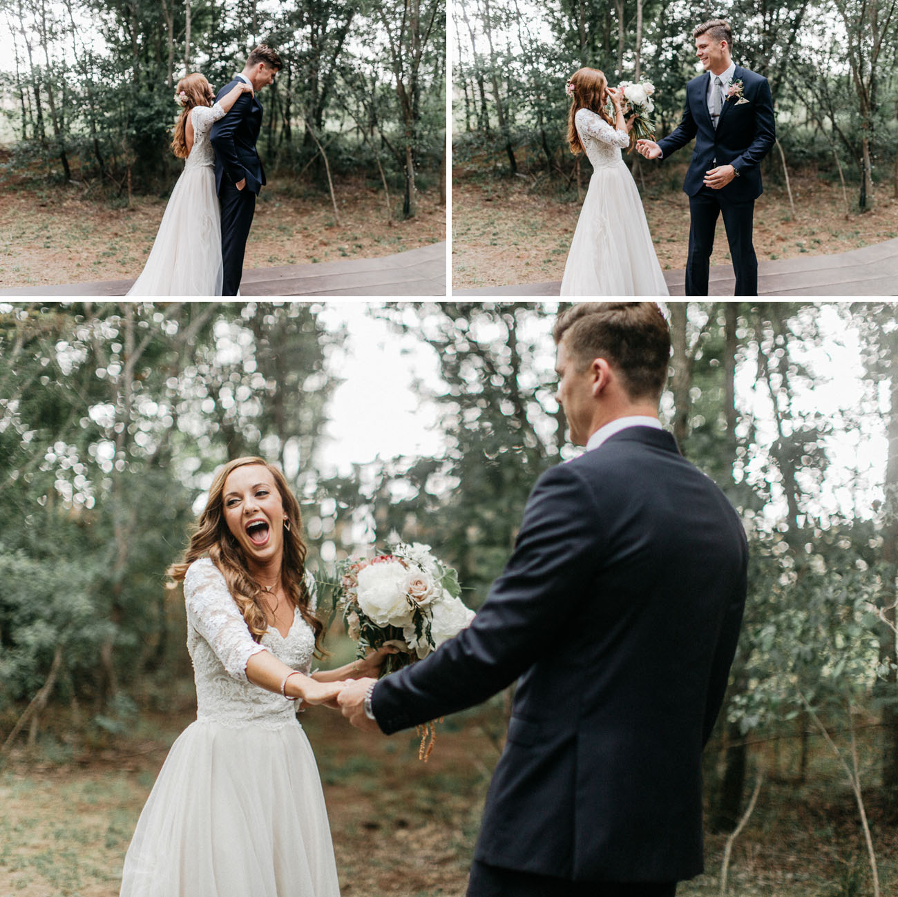 Enchanted Forest Wedding in Oklahoma - Strapless Wedding Dresses