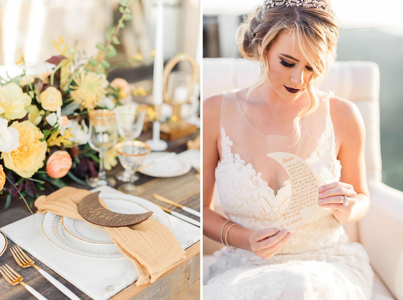 Over the Moon Wedding Inspiration