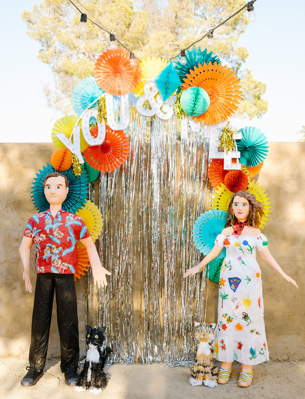 custom bride and groom pinata