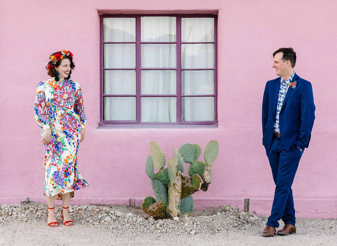 Colorful DIY Fiesta Desert Wedding