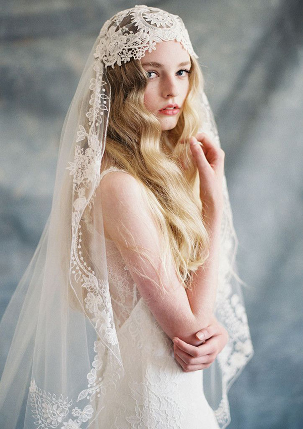 Easy and elegance wedding veil choose for bridal for Wedding dresses and veils