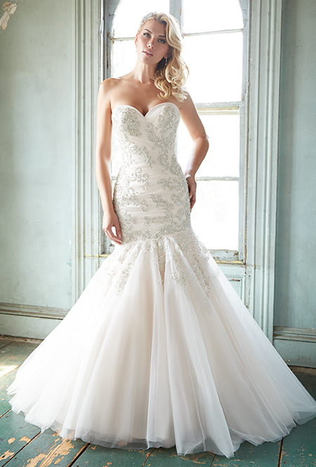 Hot wedding collection designed with dramatic texture