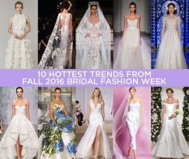 10 HOTTEST WEDDING DRESSES TRENDS FROM FALL IN 2016 BRIDAL FASHION WEEK